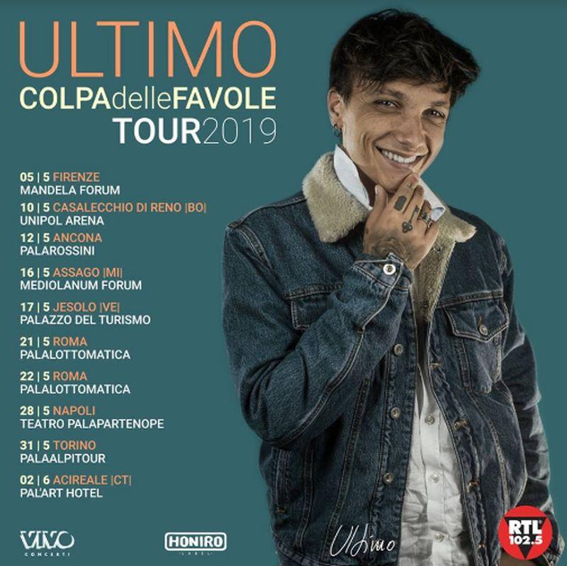 Concerti Ultimo 2019: date, biglietti, album