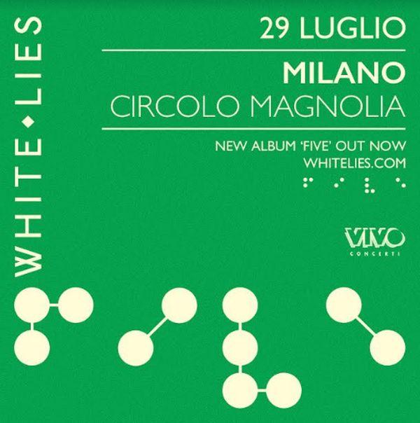 Concerto White Lies a Milano: data, biglietti, scaletta