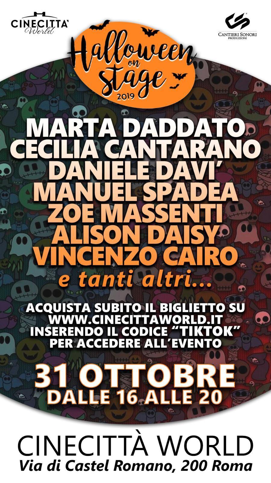 Halloween 2019: Cecilia Cantarano e Marta Daddato da Tik Tok a Cinecittà World