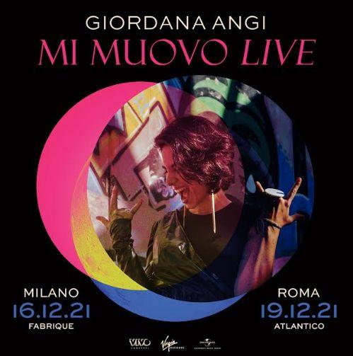 Concerti Giordana Angi nel 2021: date, biglietti e come arrivare