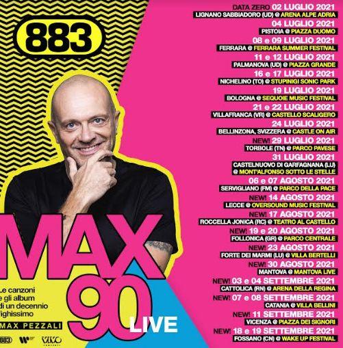 Max90 Live di Max Pezzali: date, biglietti e scaletta