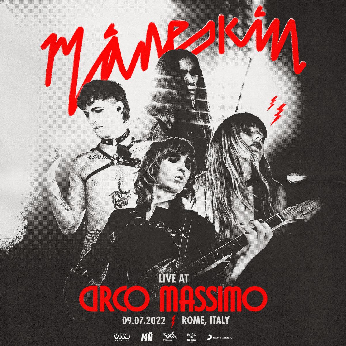 Maneskin al Circo Massimo: data, biglietti e come arrivare