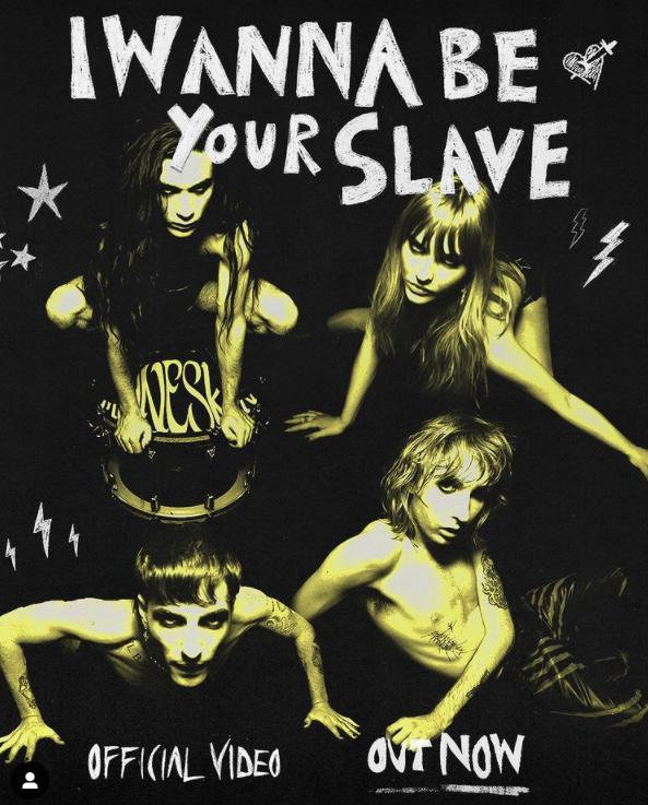 I wanna be your slave dei Maneskin: testo, traduzione e video