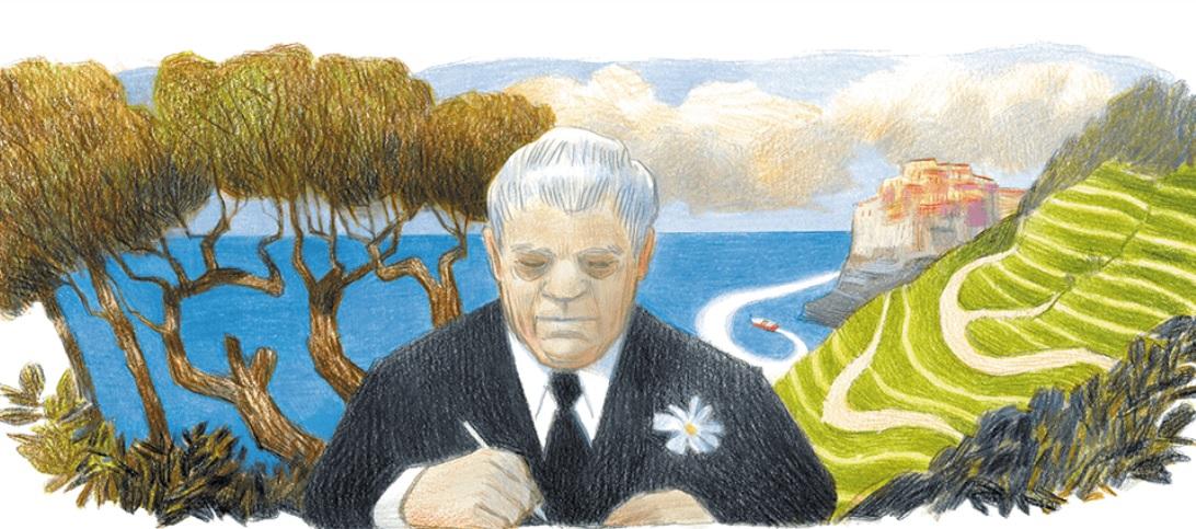Eugenio Montale, il doodle di Google nel 125esimo anniversario della sua nascita