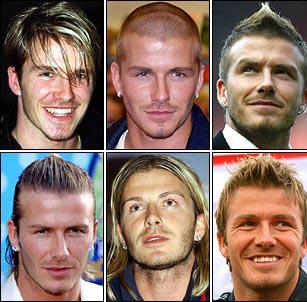Un assaggio delle capigliature di David Beckham...