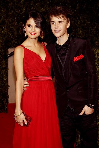 Justin Bieber con la fidanzata Selena Gomez