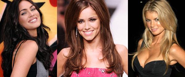 Le prime tre sul podio: al centro la vincitrice Cheryl Cole, a sinistra Megan Fox, a destra Marisa Miller