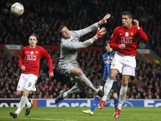 Il gol del 2-0 del Manchester Utd sull'Inter realizzato da Cristiano Ronaldo