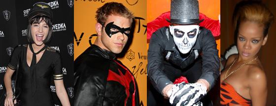 Da sinistra Blake Lively, Kellan Lutz, Zachary Quinto e Rihanna