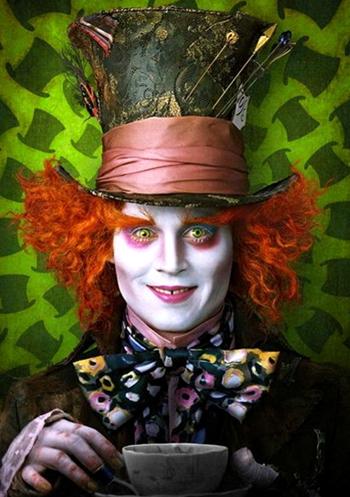 Johnny Depp Cappellaio Matto Alice Nel Paese Delle Meraviglie