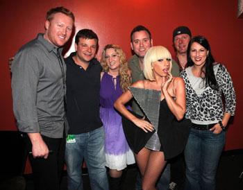 Lady GaGa con David Ciemny (è il primo da sinistra)