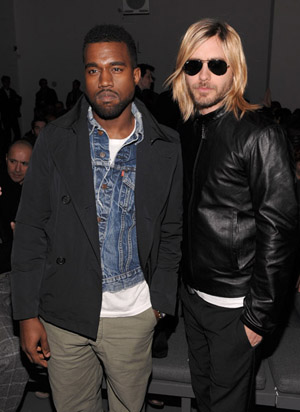 Jared Leto col suo nuovo look insieme a Kanye West