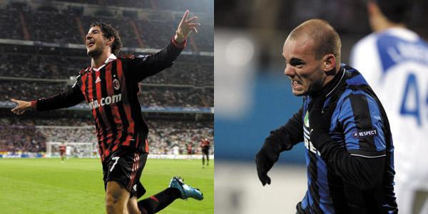 Pato e Snejider, due degli uomini-chiave di Milan e Inter