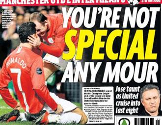Il titolo con il quale il Daily Mirror punge Mourinho