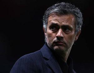Il volto corrucciato di José Mourinho