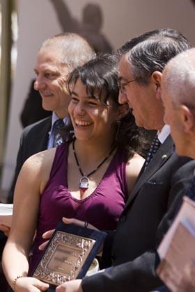 La vincitrice Ilaria De Regis