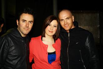 Silvia con Glen e Mark