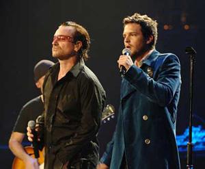 Brandon con Bono degli U2