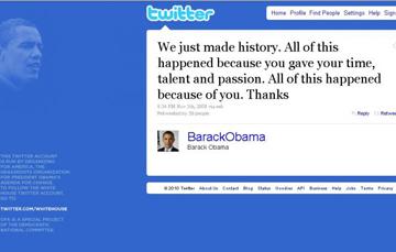 Lo storico tweet di Obama