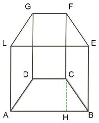Prima retto con base trapezio isoscele